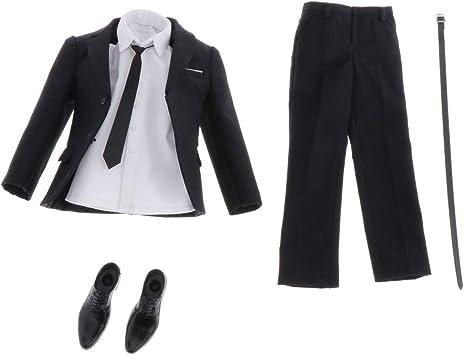 Amazon.es: P Prettyia 1/6 Kits Traje de Vestir Pantalones Casuales Camisa Blanca Corbata y Zapatos para Muñecas Figuritas Hombres: Juguetes y juegos