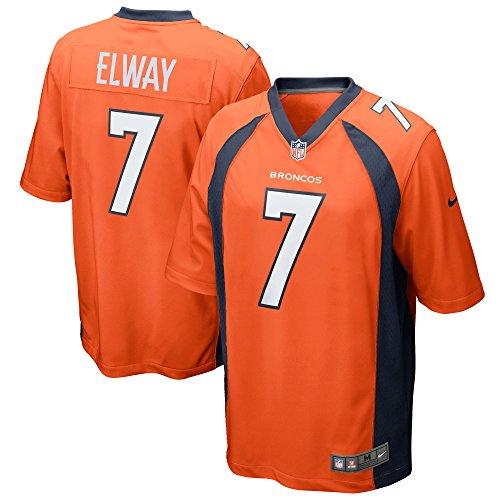 NIKE John Elway Denver Broncos Orange Retired Player Game Jersey - Men's Small