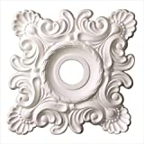 18 in. x 18 in. x 1-5/8 in. Shell And French Twist Polyurethane Ceiling Medallion