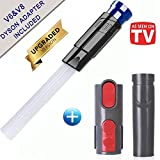 LifeHelper LH-DB-0068 Duster, Universal Vacuum Dusty Brush Pro Cleaner Accessories,Tiny Cleaning Sweeper VAC Attachment Drit Remover Tools, Compatible V6 V8 V7 V10, Extra Dyson Adapater, Mixcolor