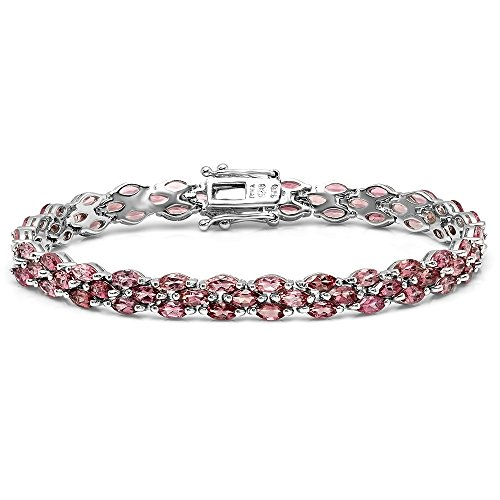 Dazzlingrock Collection 15.00 Carat (ctw) Real Marquise Tourmaline Ladies Tennis Bracelet, Sterling Silver