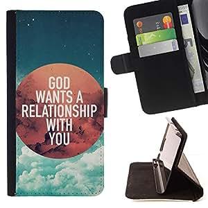 Momo Phone Case / Flip Funda de Cuero Case Cover - BIBLIA Dios quiere una relación contigo; - Samsung Galaxy J3 GSM-J300
