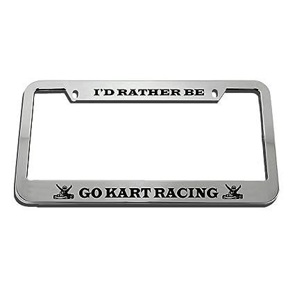 Amazon.com: Speedy Pros I\'d Rather Be Go Kart Racing Zinc Metal ...