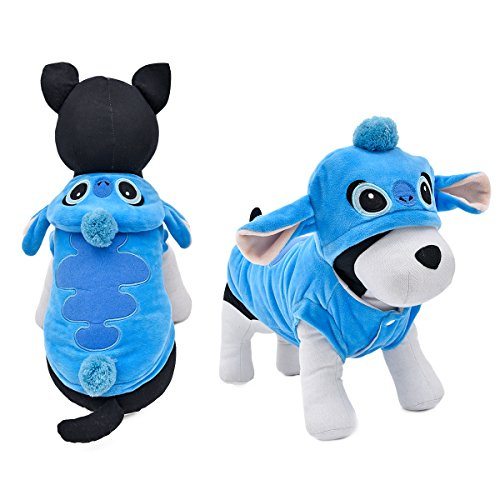 PAWZ Road Halloween Dog Warm Clothes Cat Winter Apparel Double Layer Soft Wool Fabric and Fleece S -