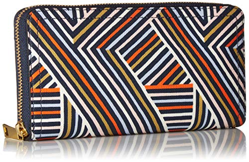 Fossil Logan RFID Zip Around Clutch Multi by Fossil (Image #2)