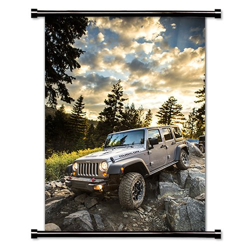 Jeep Wrangler Fabric Wall Scroll Poster