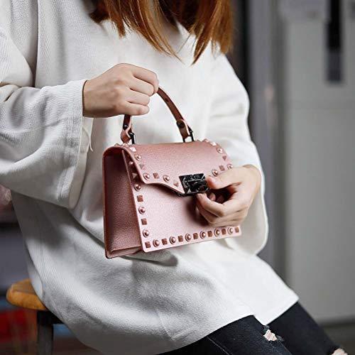 Tracolla Da Bag Borsa Matte Rivet Jelly Donna Autunno 6 5 Per Trend Inverno Niceamz E A color Nuova 8x5qwEnU