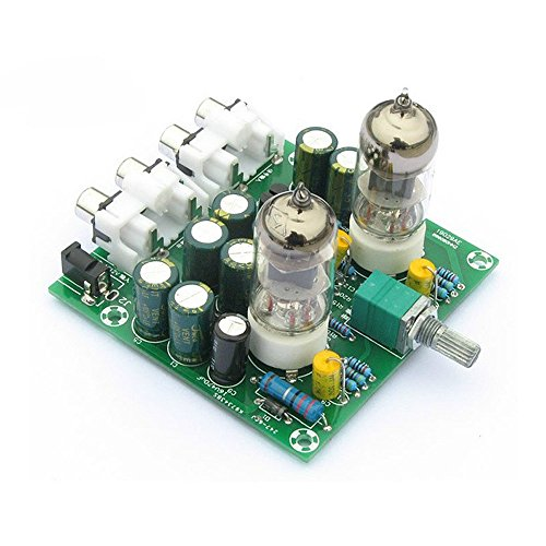 Lysignal Fever 6J1 Tube Amplifiers Board Preamplifier Headphone Pre-Amp Amplifier Audio Board DIY Kits (Stereo Preamplifier Kit)