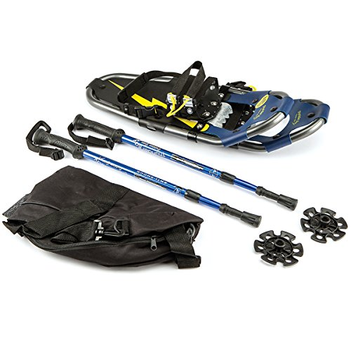 ThunderBay All Terrain Aluminum Snowshoes w/Carry Bag and Trekking Poles