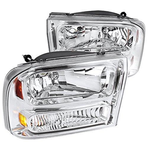 Headlights Euro Piece 1 (Spec-D Tuning 2LH-F250991PC-ABM Chrome Headlight (1 Piece Euro))