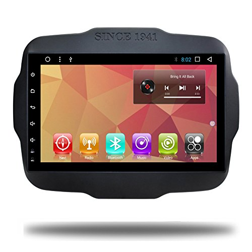 Android 7.1 Quad Core Car GPS Navi for Jeep Renegade Touch Screen Car Stereo Multimeida Bluetooth Video Car Radio Audio Player Navigation (Android 7.1 for Jeep Renegade 32G)