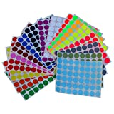 """Round Stickers ~3/4"""" inch in 18 Assorted Colors. Colored Sticker dots 17mm - 864 Pack by Royal Green"""