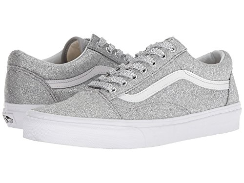 Silver Skool UA Old Metallic Lurex Adult Vans Glitter grey Trainers w7p1xHqq