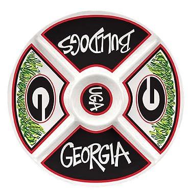 Collegiate Melamine Veggie Tray (Georgia Bulldogs)