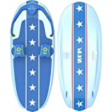 ZUP DoMore All-in-One Watersports Performance Board - Hex Pattern - Kneeboard, Wakeboard, Wakesurf Board and Water Skis! (Stars and Stripes)