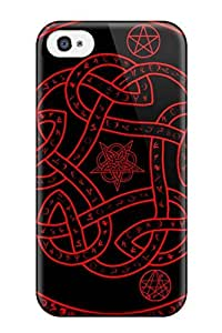 Iphone 4/4s Case Cover - Slim Fit Tpu Protector Shock Absorbent Case (occult)