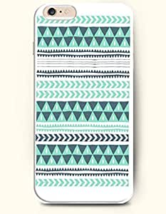 SevenArc Apple iPhone 6 Case 4.7' - Aztec Indian Chevron Zigzag Pattern ( Green Aztec Pattern With Chevron And Triangles...