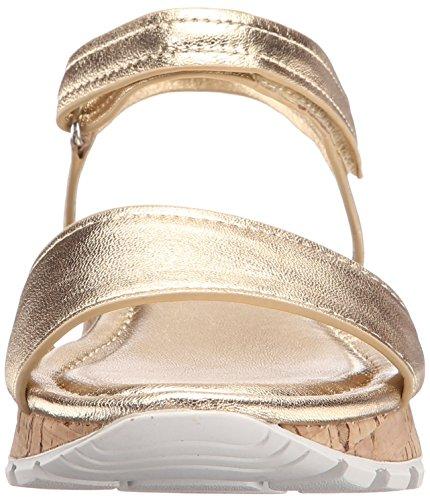 Skechers Cali Paso a Paso-dentado de punta vestido de la sandalia Dorado