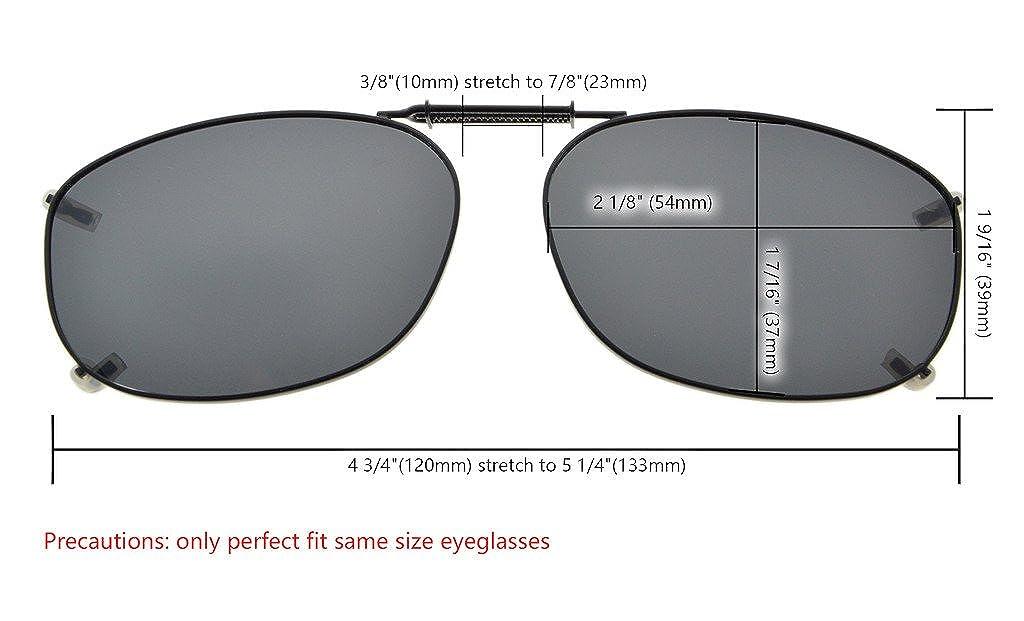 fce5eba44ce6 Amazon.com  Eyekepper Metal Frame Rim Polarized Lens Clip On Sunglasses 2  3 16