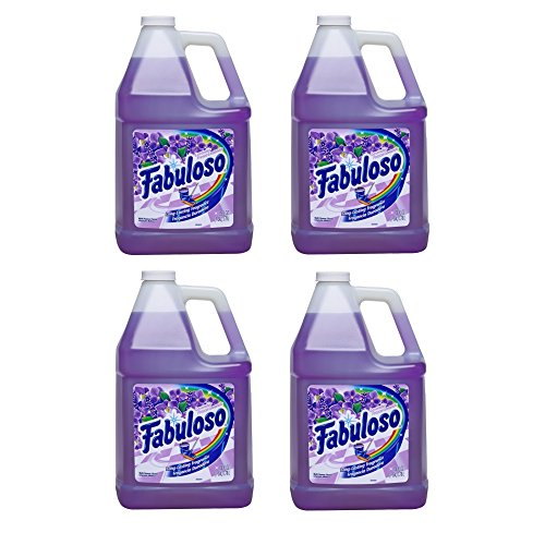 Fabuloso 4307 Long Lasting Fragrance, 1 gallon, Lavender (4 Pack) by Fabuloso