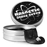 Tytan Magnetic Space Putty Slime Stress Reliever Infused with Iron Fun Toy, Black