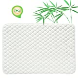 Quilted Pack N Play Crib Mattress Pad Liner Thicker Waterproof Changing Pad Liners by BlueSnail White Gourd Design 27X39 inch