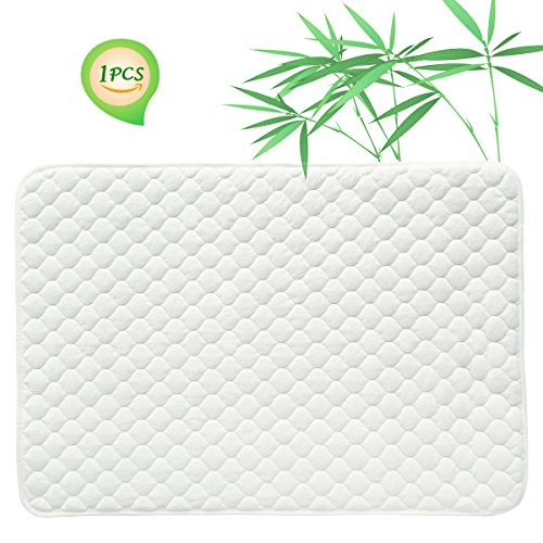 Quilted Pack N Play Crib Mattress Pad Liner Thicker Waterproof Changing Pad Liners by BlueSnail White Gourd Design 27X39 inch by BlueSnail