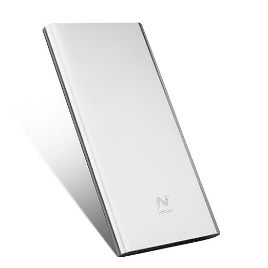 49 opinioni per Keluoer Ultra Slim Power Bank doppia porta USB esterna mobile Battery Pack per