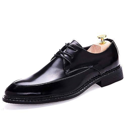 271e3150f9 LYZGF Moda para Hombres Jóvenes Casual Retro Moda Puntiagudo Peluquería  Zapatos De Cuero  Amazon.es  Zapatos y complementos