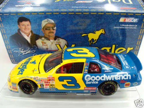 Earnhardt Race Dale Sr (Clear Window Bank CWB Car Dale Earnhardt Sr #3 Wrangler Jeans Monte Carlo 1999 Charlotte All Star Race Paint Scheme 1/24 Scale Hood Opens Action Racing Collectibles Limited Edition)