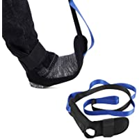 Stretching Strap Band Leg Stretch Belt Rope Foot Stretcher for Plantar Fasciitis Exercises, Heel Spurs, Achilles Tendonitis & Ankle Ligaments 6 Resistance Loops