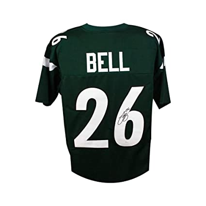 huge discount c2e57 ab9f3 Le'Veon Bell Autographed New York Jets Custom Green Football ...