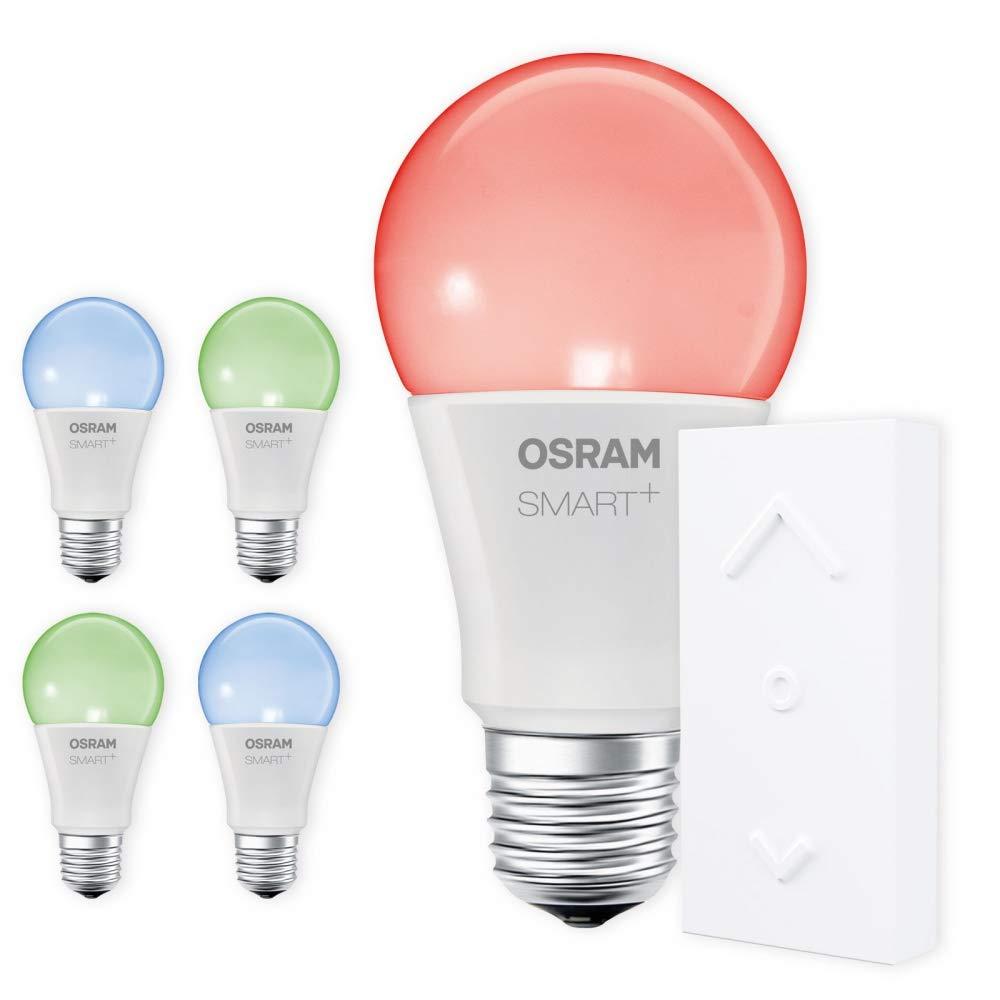 OSRAM SMART+ SWITCH KIT E27 RGB Farbwechsel dimmbar LED + Fernbedienung weiß Auswahl 5er Set