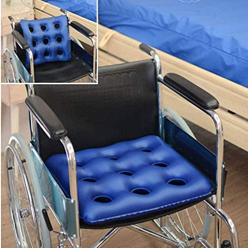 VGZ Aufblasbare Anti-Dekubitus-Luftkissen Akne Stuhlkissen Rollstuhlkissen Ältere Hüfte Aufblasbare Pads-Blue_A