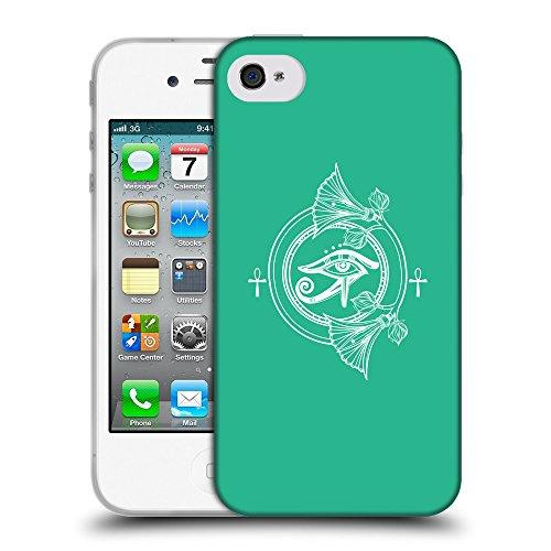 GoGoMobile Coque de Protection TPU Silicone Case pour // Q09860626 Religion 26 Caraïbes Vert // Apple iPhone 4 4S 4G