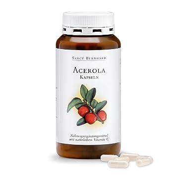 Acerola - Cápsulas con natural Vitamina C, Acerolafrucht polvo 300 Cápsulas: Amazon.es: Salud y cuidado personal