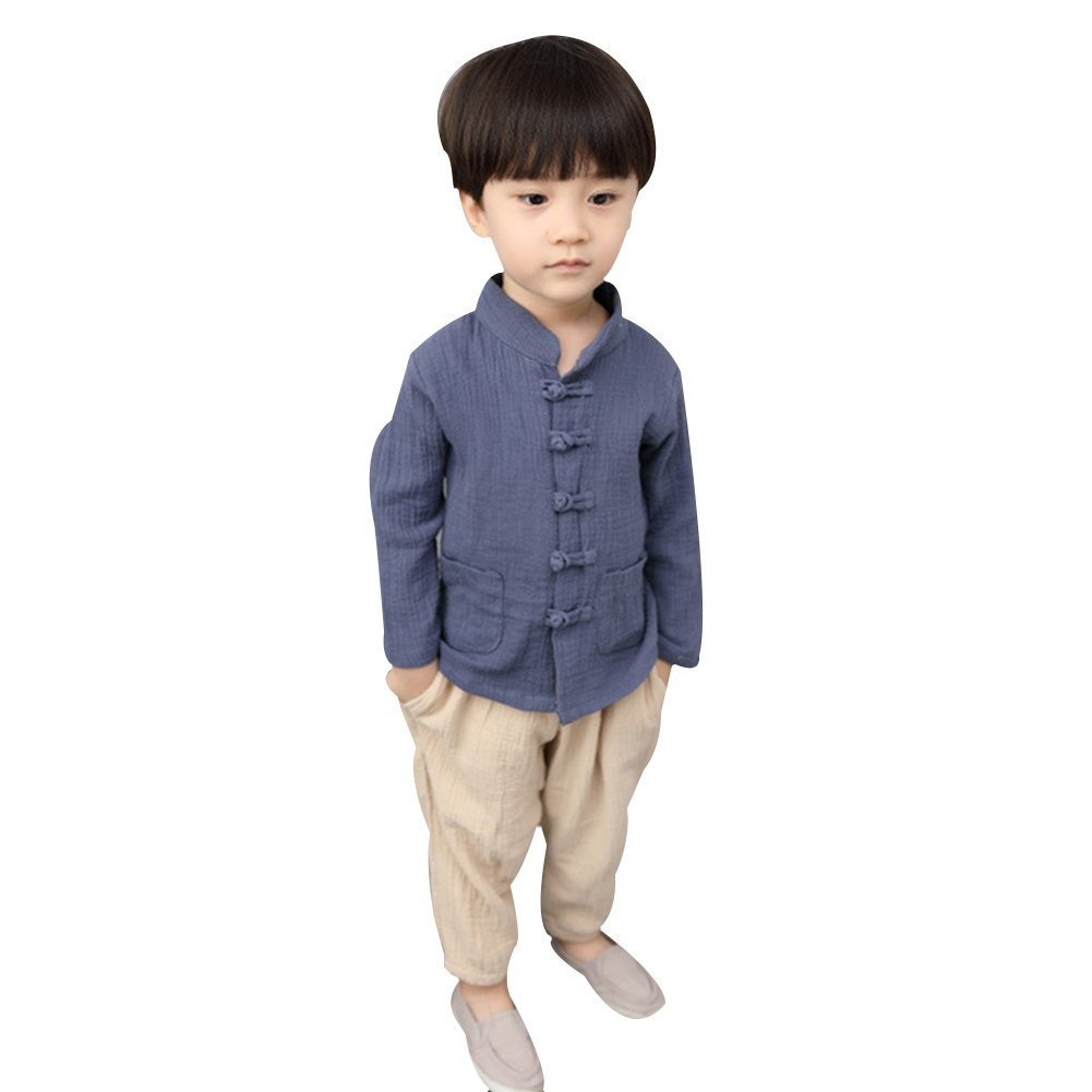 Uniqstore Chinese Kung Fu Outfit Kids Baby Boy Tang Suit Chinese Festival