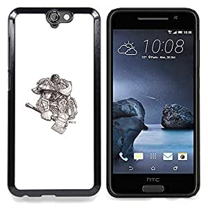 - Viking God Warrior/ Hard Snap On Cell Phone Case Cover - Cao - For HTC ONE A9