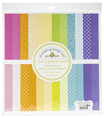 (Doodlebug Petite Prints Double-sided Cardstock 12