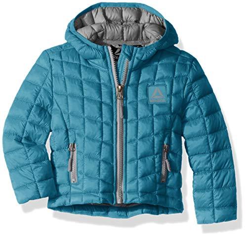 - Reebok Girls' Big Active Packable Hooded Jacket with Glacier Shield, Teal, 7/8