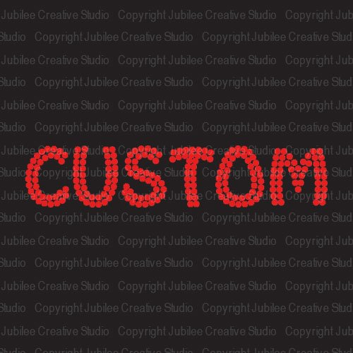 Red Custom Word Iron On Rhinestone Crystal T-Shirt Transfer Funky Style Letters by Jubilee Rhinestones