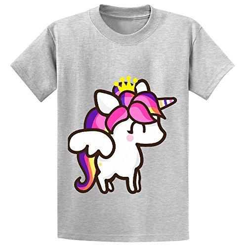 unicorn-cartoon-cute-unisex-crew-neck-graphic-tees-grey