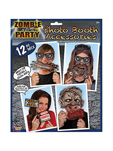 Zombie Theme Photo Booth Accessories 12 Props Halloween