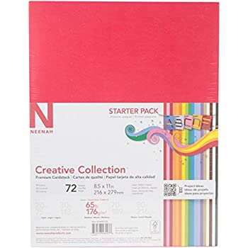 Neenah Creative Collection Classics Specialty Cardstock Starter Kit, 8.5 X 11 Inches, 72 Count (46407-02)