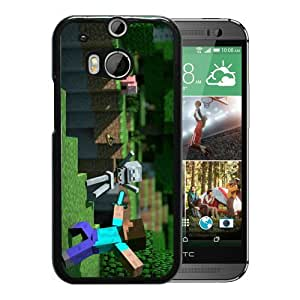 For HTC ONE M8,minecraft 10 Black Protective Case For HTC ONE M8