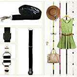Over Door Hanger, Windspeed Door Hat Bag Clothes Coat Rack Holder Organizer Adjustable Straps Hanger, 4 Pcs Color Assorted.