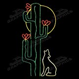 LED 6' SAGUARO CACTUS W/COYOTE & MOON