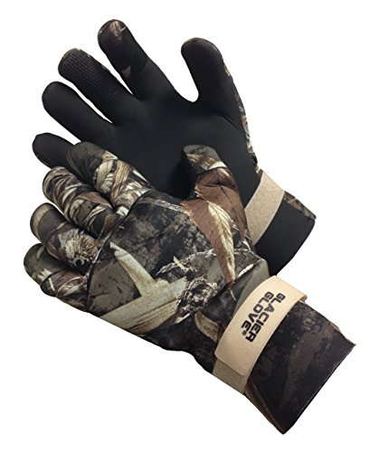 Glacier Glove Pro Waterfowler Waterproof Neoprene Gloves, Max 5, Large