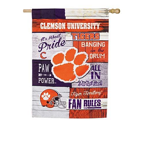- Team Sports America Clemson University Fan Rules Linen House Flag