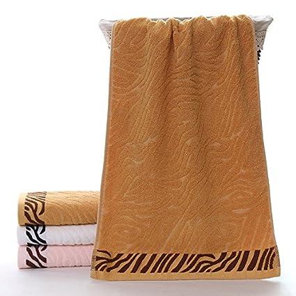 XXIN Toallas De Fibra De Bambú De Textura De Piel De Tigre De Toallas De Fibra